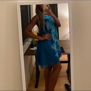 Vibrant Blue Flowy Summer Dress